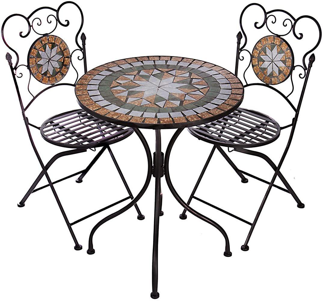 Hochwertiges Aufwendig Gearbeitetes Mosaik Tisch Set Na914 B017