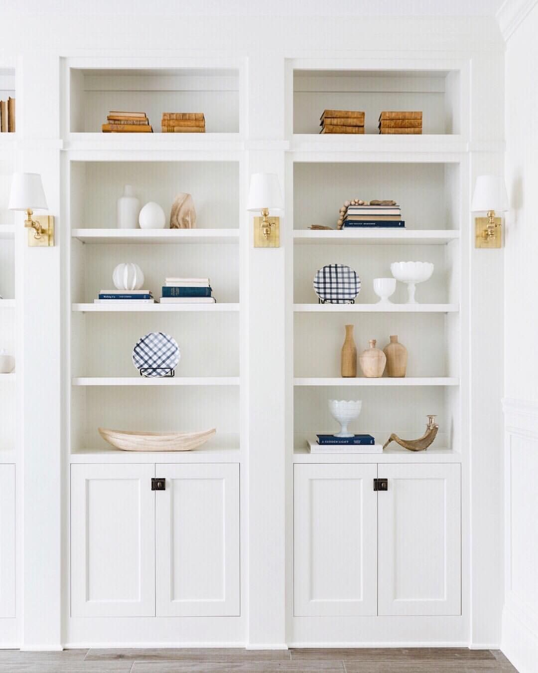 Sweet And Simple Styling For The Built Ins At Our Willow Lane