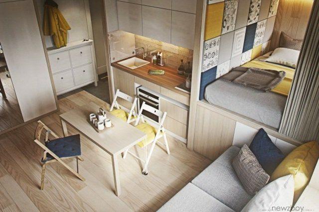 Salon et chambre dans la même pièce 20 idées pour aménager un studio