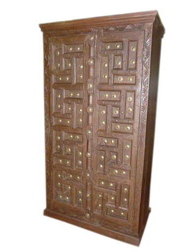 buy kitchen cabinet rustic doors armoire cabinet carved teak brass india 1888