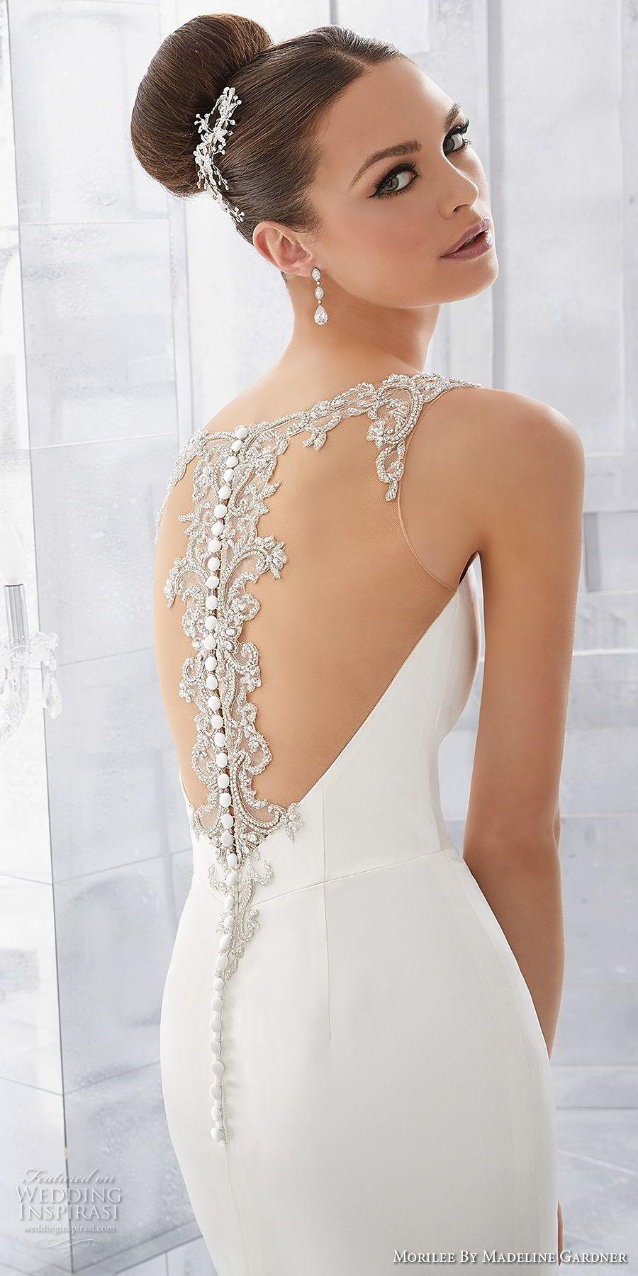 Simple modern wedding dress  Morilee by Madeline Gardner Fall  Blu Bridal Collection  Bridal