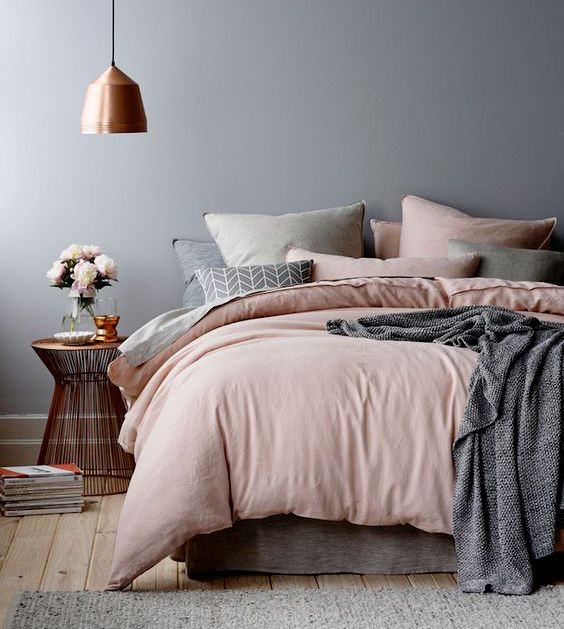 Blush bedroom decor
