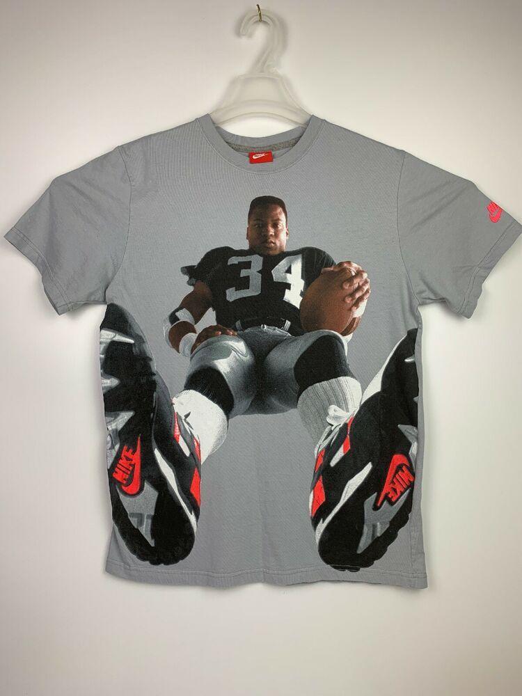 innovative design 751b9 bd290 Nike Vintage Bo Jackson Bo Knows Football Raiders T-shirt ...