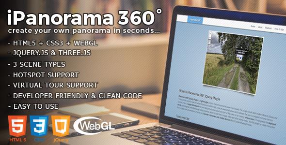 iPanorama 360° - jQuery Virtual Tour Builder | Code Script