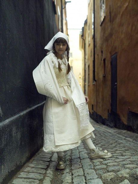 modernized folk costume from Sweden