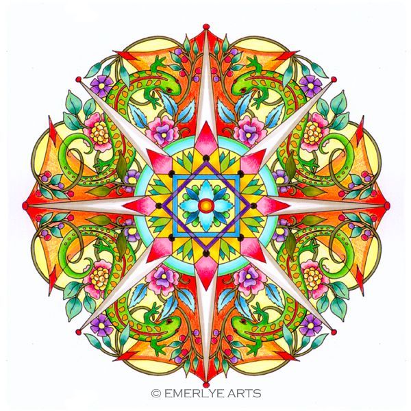 Next Years Coloring Book Of Nature Mandalas Is Nearly Finished I Am Now Submitting Colored Versions The Designs For Publisher