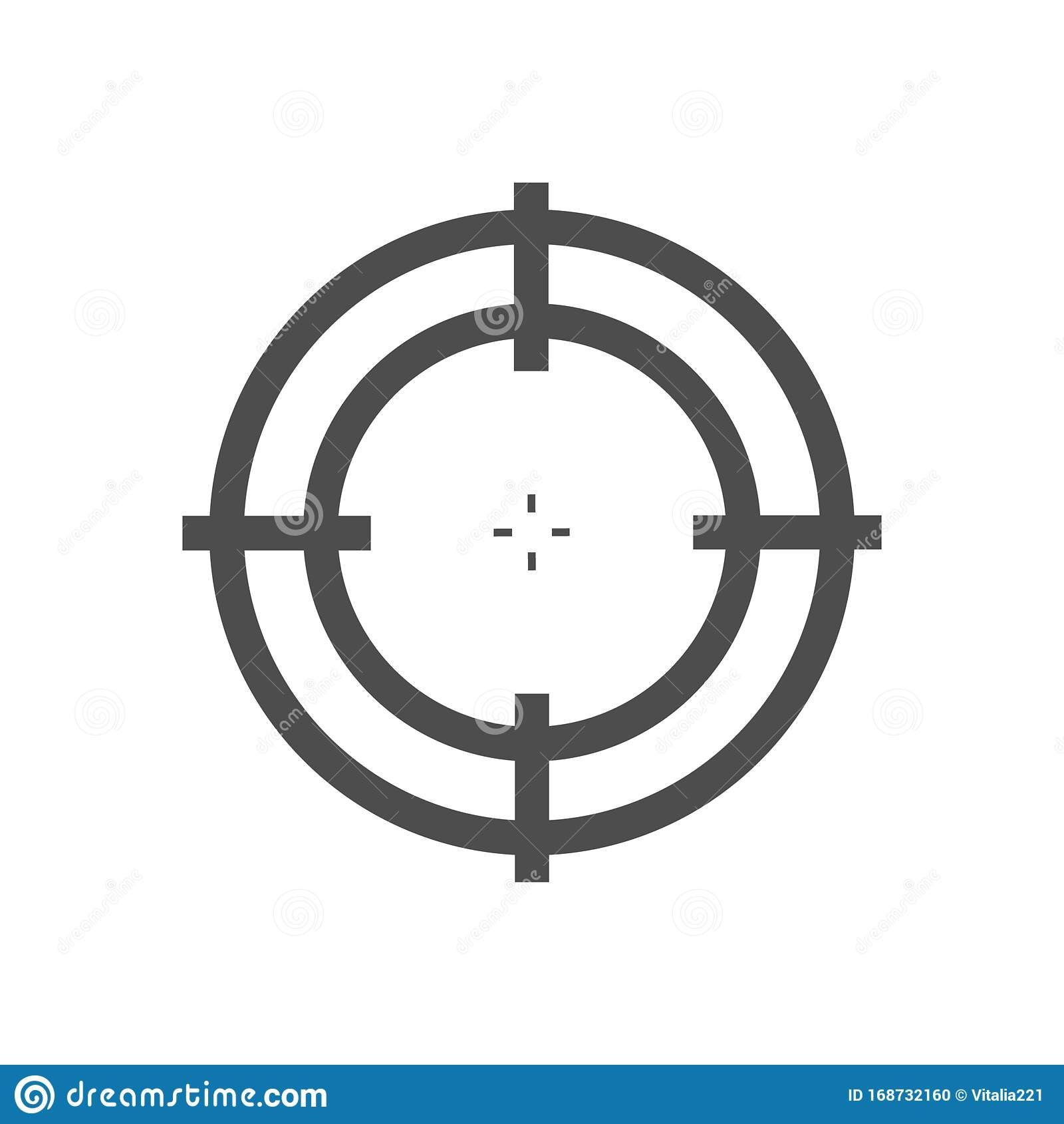 Illustration About Sniper Scope Isolated On The White Background Target Icon Illustration Optical Sight For Differe Icon Illustration White Background Sniper