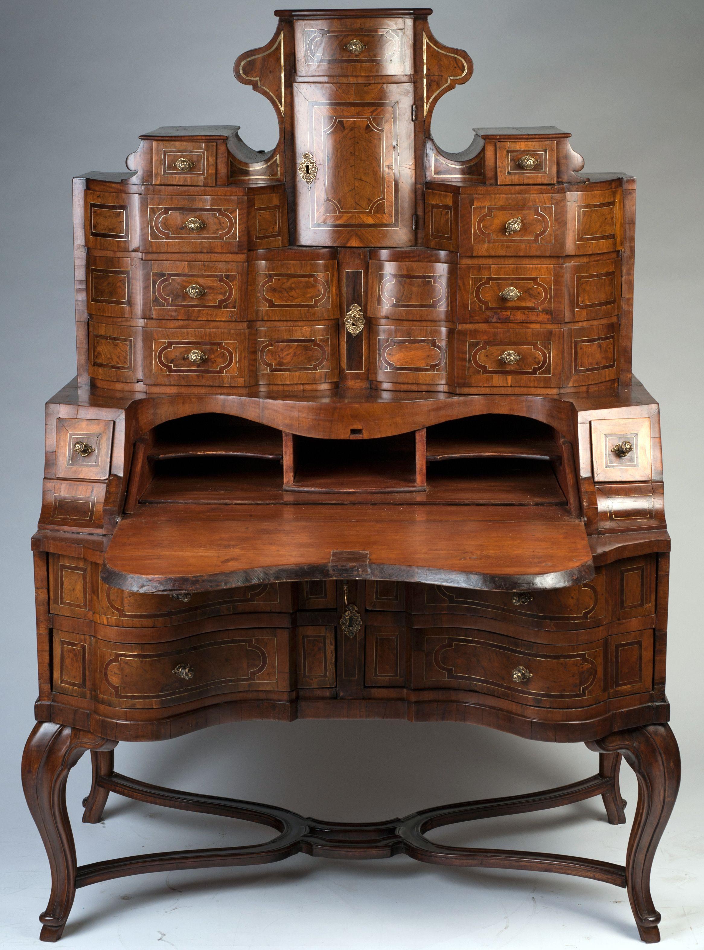 Magnifique Bureau Secrtaire Style Rococo Allemagne Vers