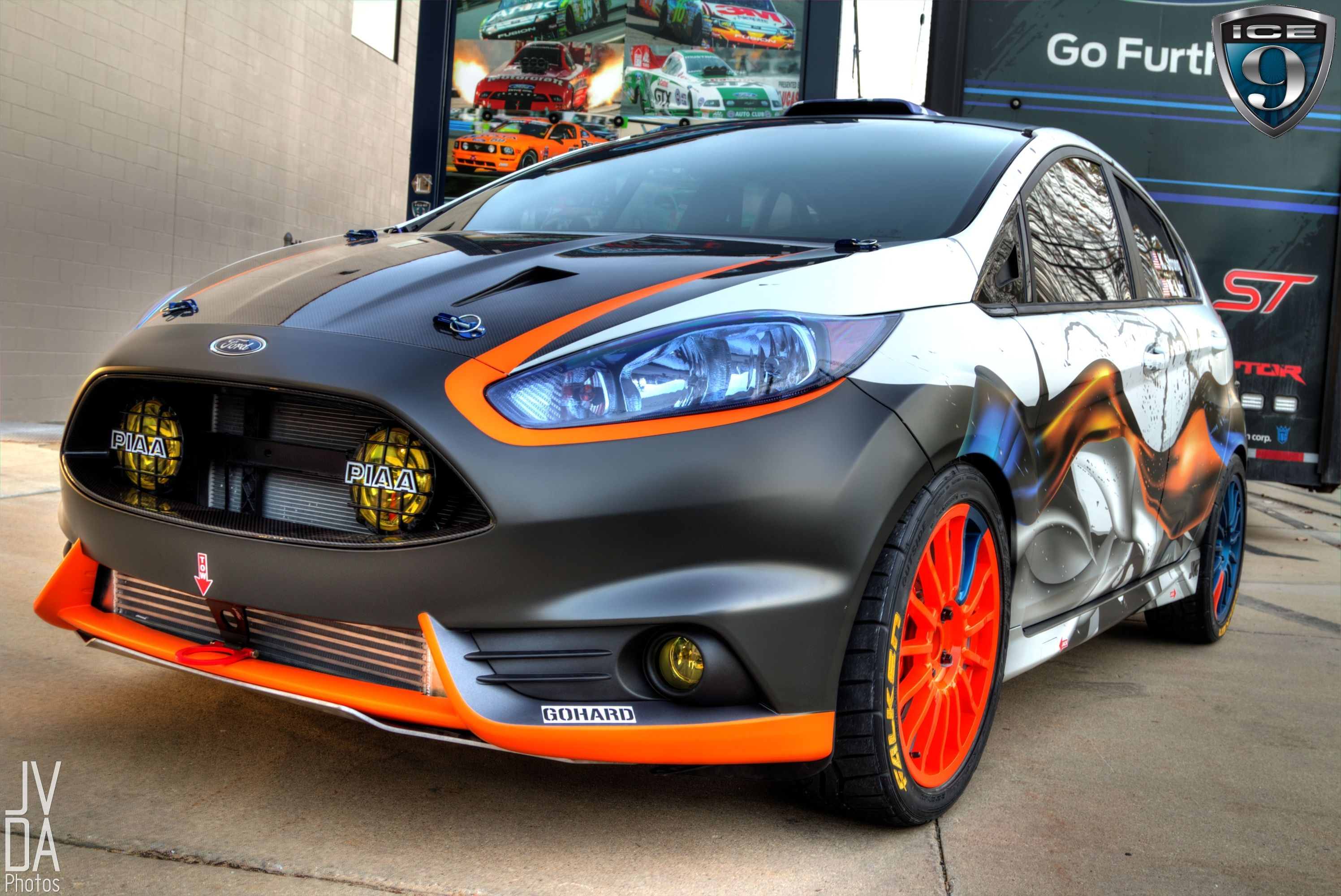 So i came across this the ice nine group team o neill fiesta st from sema i don t really like anything about the car except those recessed lights in