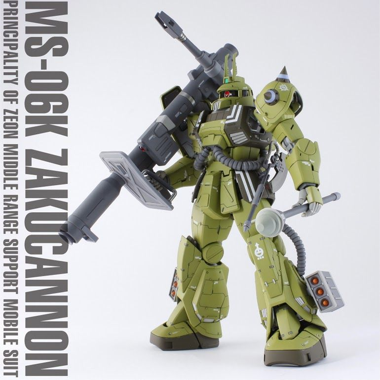 Zaku Cannon (Ian Graydon Custom) - Custom Build  by  takechako   Very nice build, love everything about it from paint job to detailing. Ever...