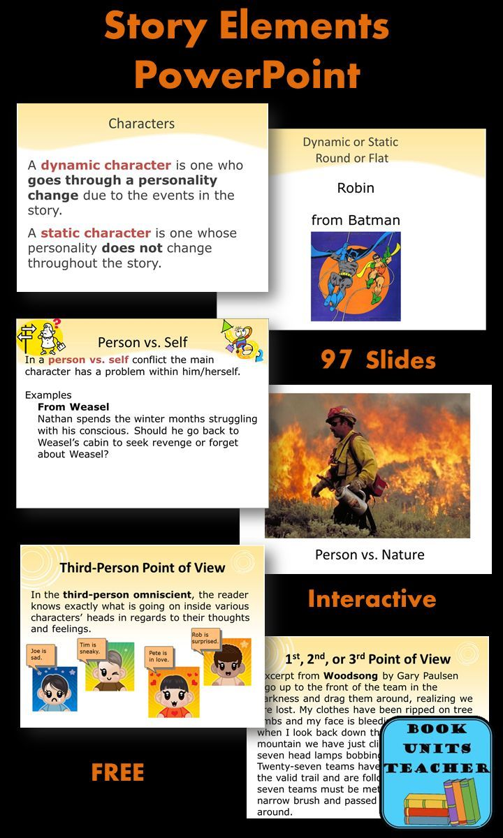 Fantastic FREE PowerPoint for teaching Story Elements to