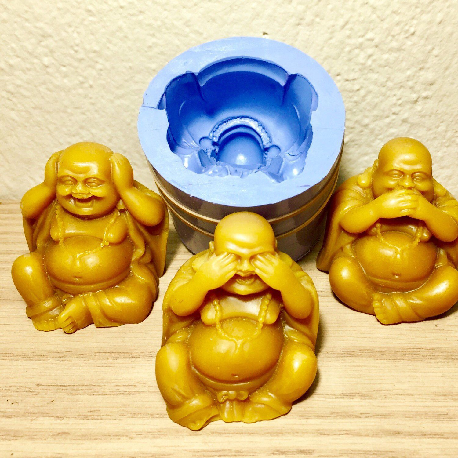 3d silicone laughing buddha mold candle soap resin