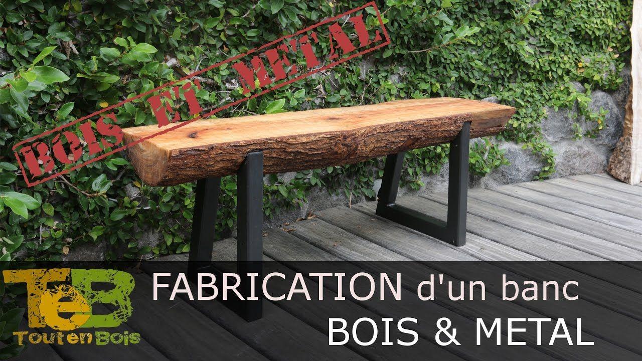 Bricolage Rapide Comment Fabriquer Un Banc En Bois Et Metal How To M
