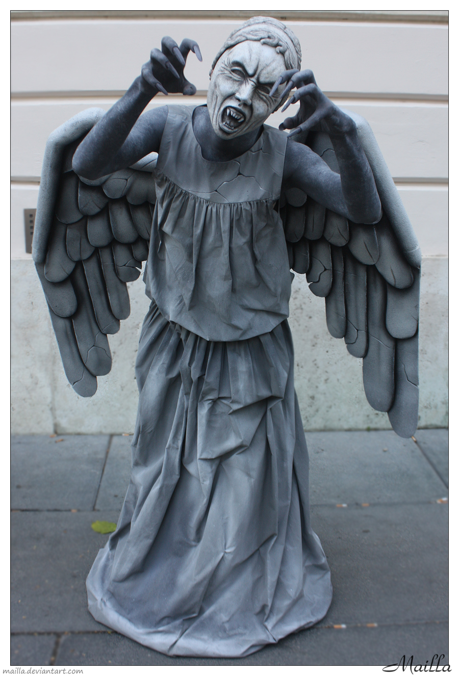 NEW Doctor Who Weeping Angel Cosplay Costume