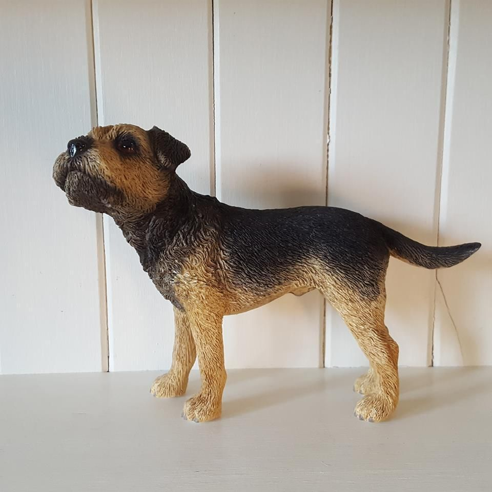 Border terrier dog ornament figurine gift boxed Dog