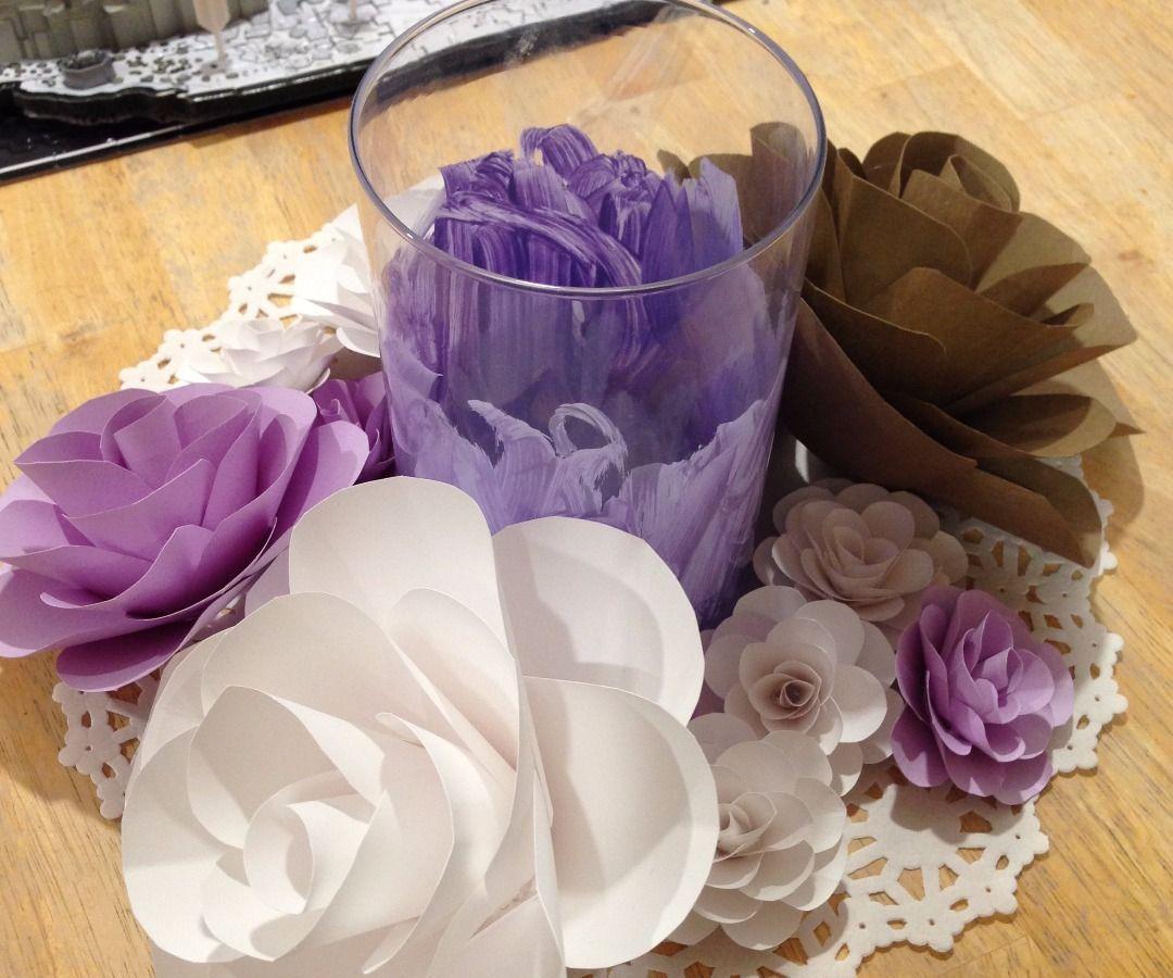 Cardstock Paper Flowers Simple Flowers Flowers And Big Paper Flowers