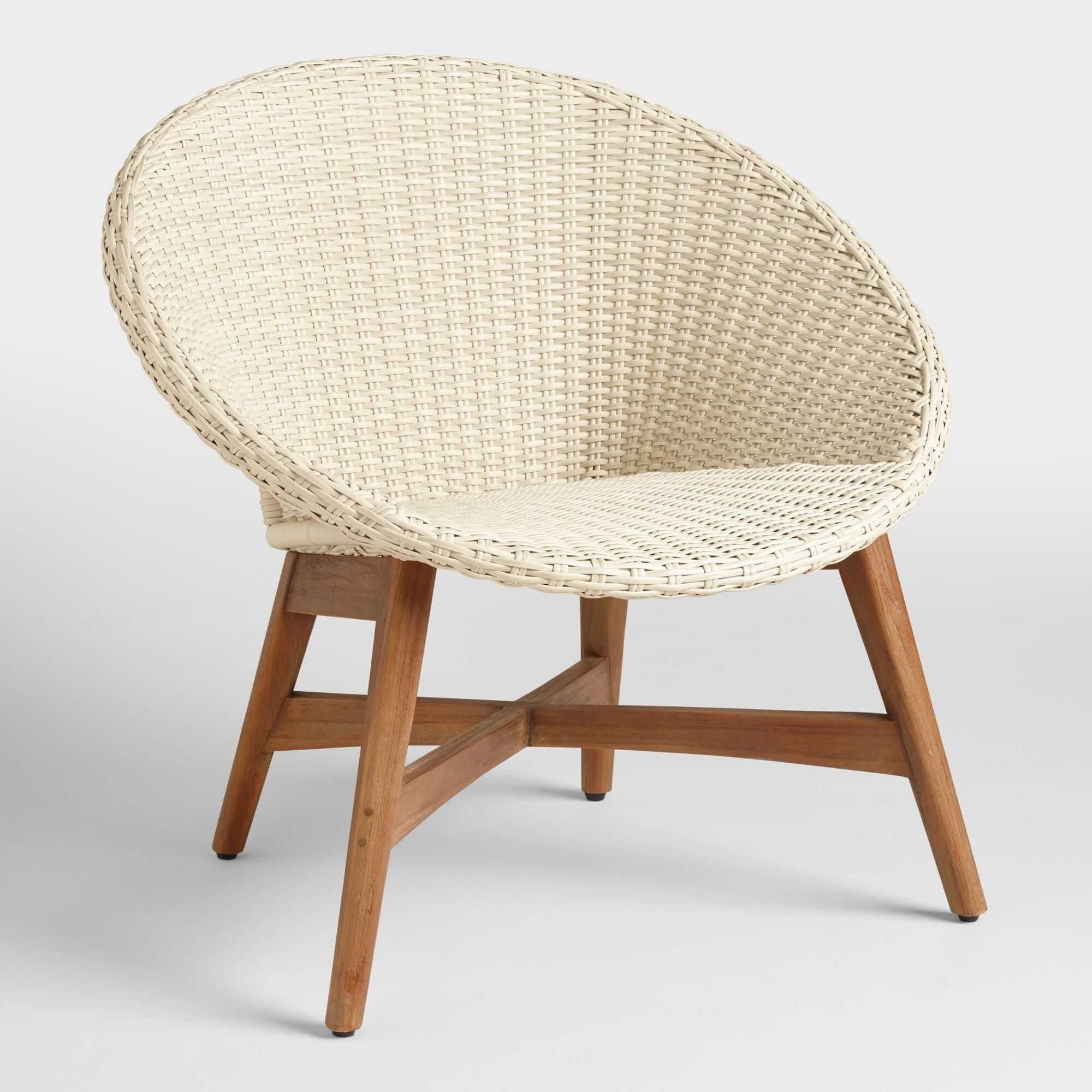 Round All Weather Wicker Vernazza Outdoor Patio Chairs Set