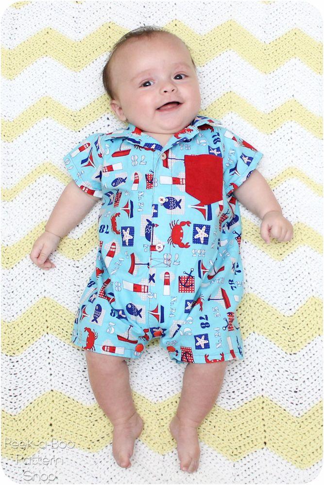 Button-Up Baby Romper FREE Pattern! | patterns | Pinterest | Nähen ...