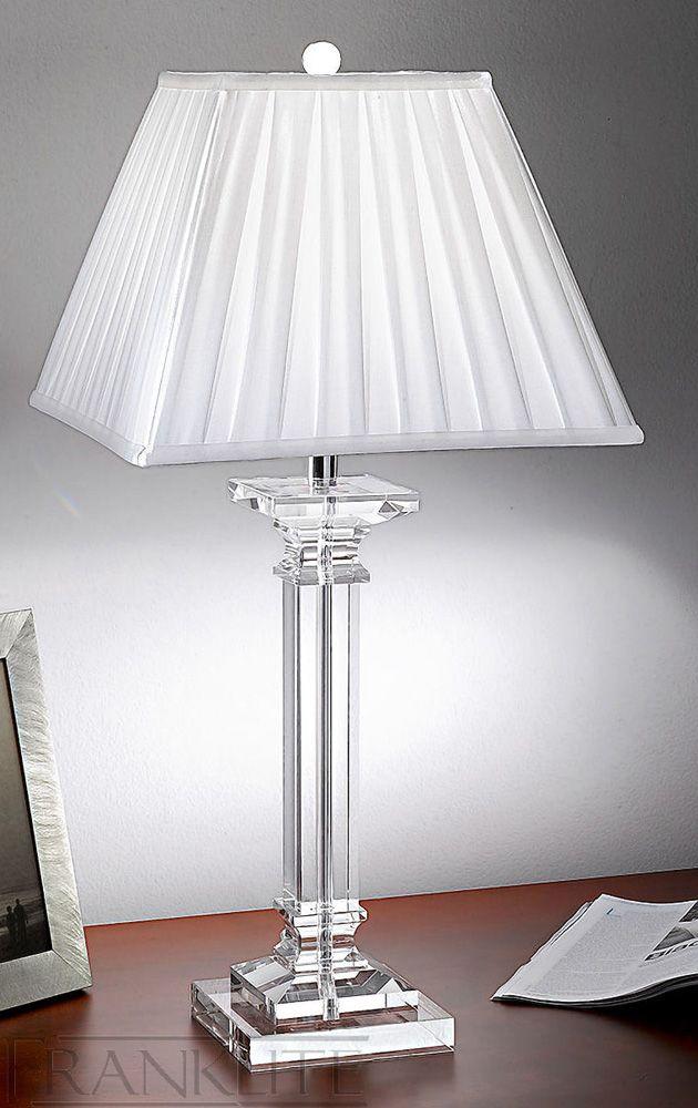 Franklite Tl886 Hugo Collection 1 Light Crystal Table Lamp