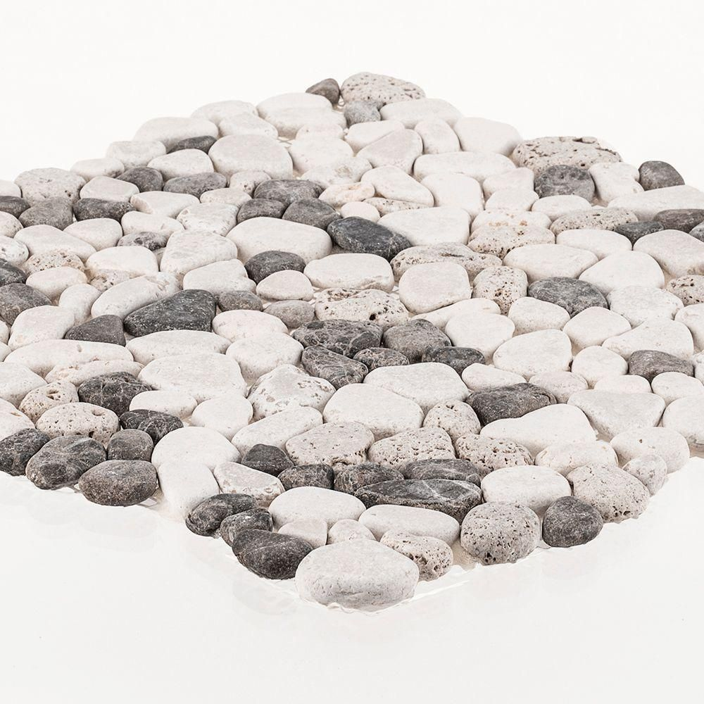 Jeffrey court river rock medley 11 in x 11 in x 10 mm