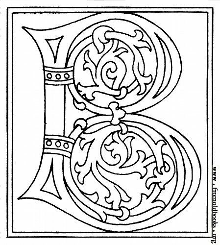Picture: clipart: initial letter B from late 15th century printed ...