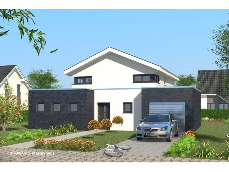Massivhaus modern satteldach  Select 147 - #Einfamilienhaus von Bau Braune Inh. Sven Lehner ...