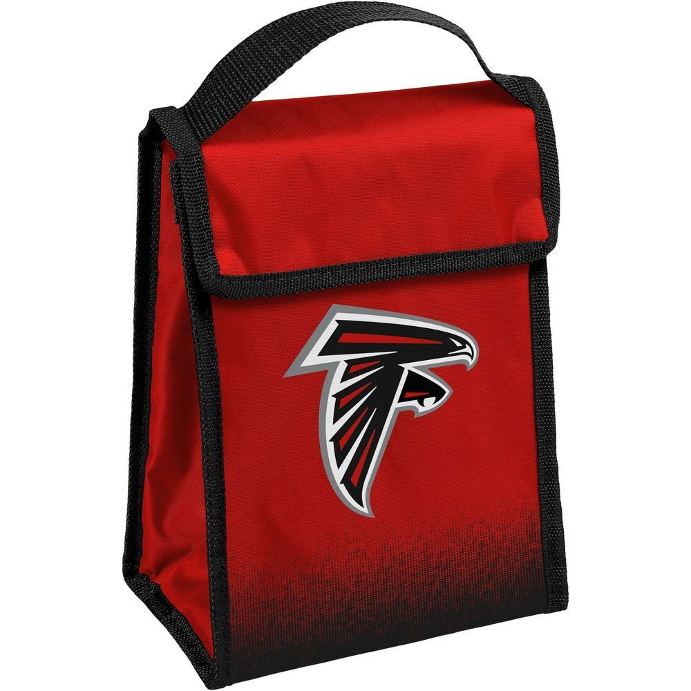 Nfl Team Logo Gradient Insulated Velcro Lunch Bag Atlanta Falcons Nfl Lunch Bag Atlanta Falcons Black In 2020 Insulated Lunch Bags Bags Atlanta Falcons