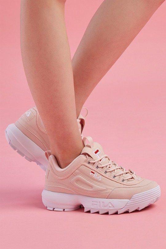 newest fe2b8 c659e fila-disruptor pink-dad-sneakers