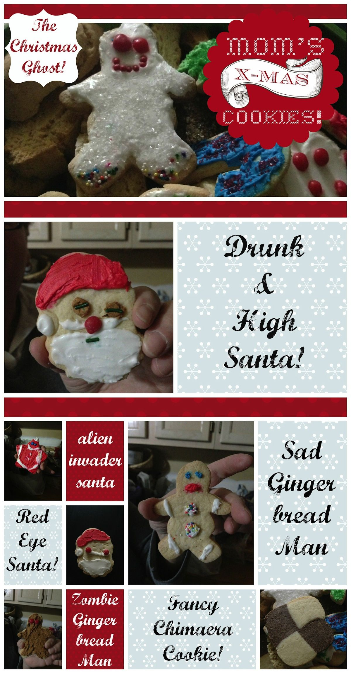 X-mas Cookie Rejects! Just as tasty!    http://www.linsight.net/2012/12/14/moms-cookie-characters/