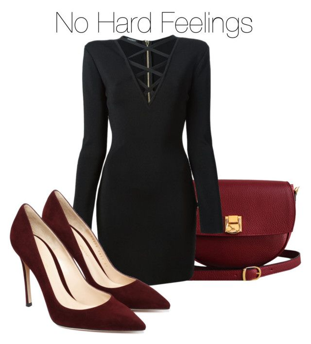 """""""I would like to invite you to join my group No Hard Feelings: http://www.polyvore.com/cgi/group.show?id=198631. <3"""" by emina-h15 ❤ liked on Polyvore featuring The Code and Balmain"""