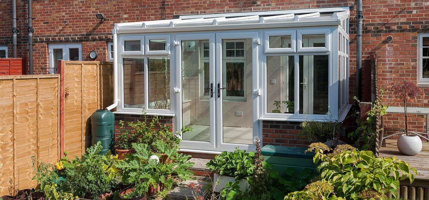 Small lean to conservatories from conservatory outlet for Conservatory sliding doors