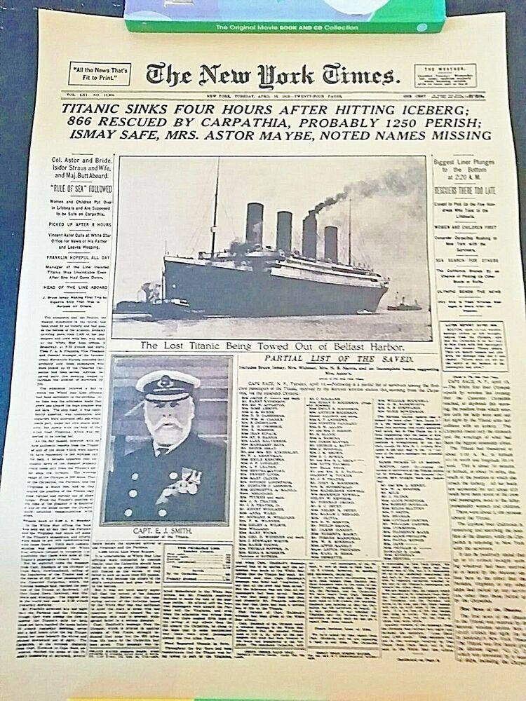 Classic The New York Time History Poster Titanic Shipwreck Kraft Paper Wallpaper
