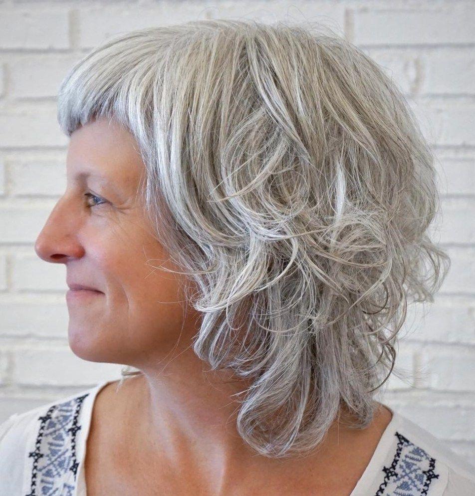 50 gray hair styles trending in 2020  long gray hair