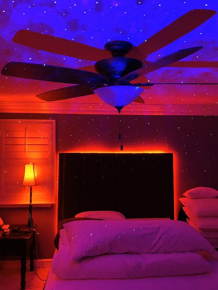 Led Strip Lights Galaxy Projector A Vibe Bring Any Room To Life With This Out Of This World Bundl Dream Room Inspiration Led Lighting Bedroom Dreamy Room