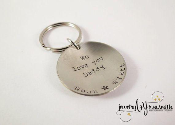Personalized Keychain Dad Mens Womens Kids by JewelryByRMSmith ... 293765a90f