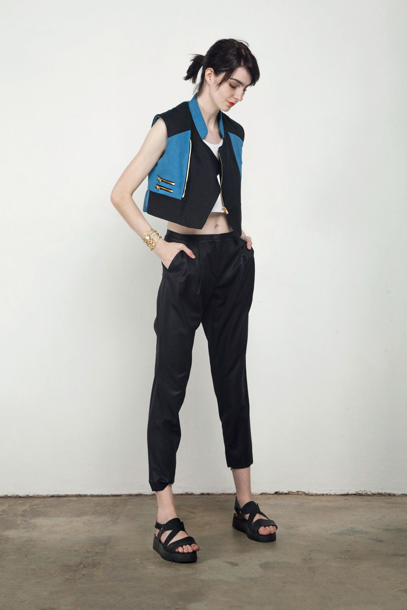 Kay Li Sleeveless Biker Jacket | GNOSSEM | Top Independent Designers | Free Shipping Worldwide