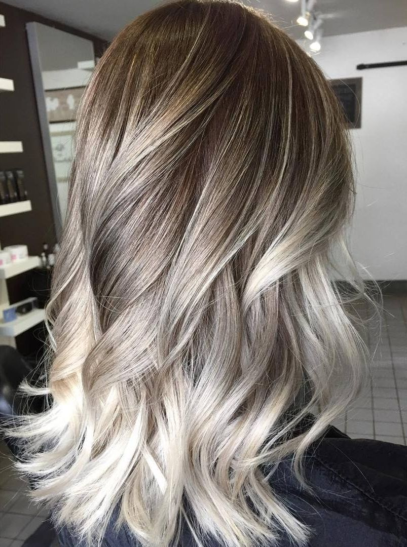 Platinum Blonde Highlights On Dark Hair 60 Balayage Color Ideas With