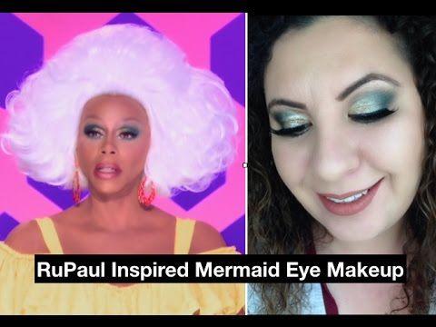 rupaul inspired mermaid eyes  makeup tutorial