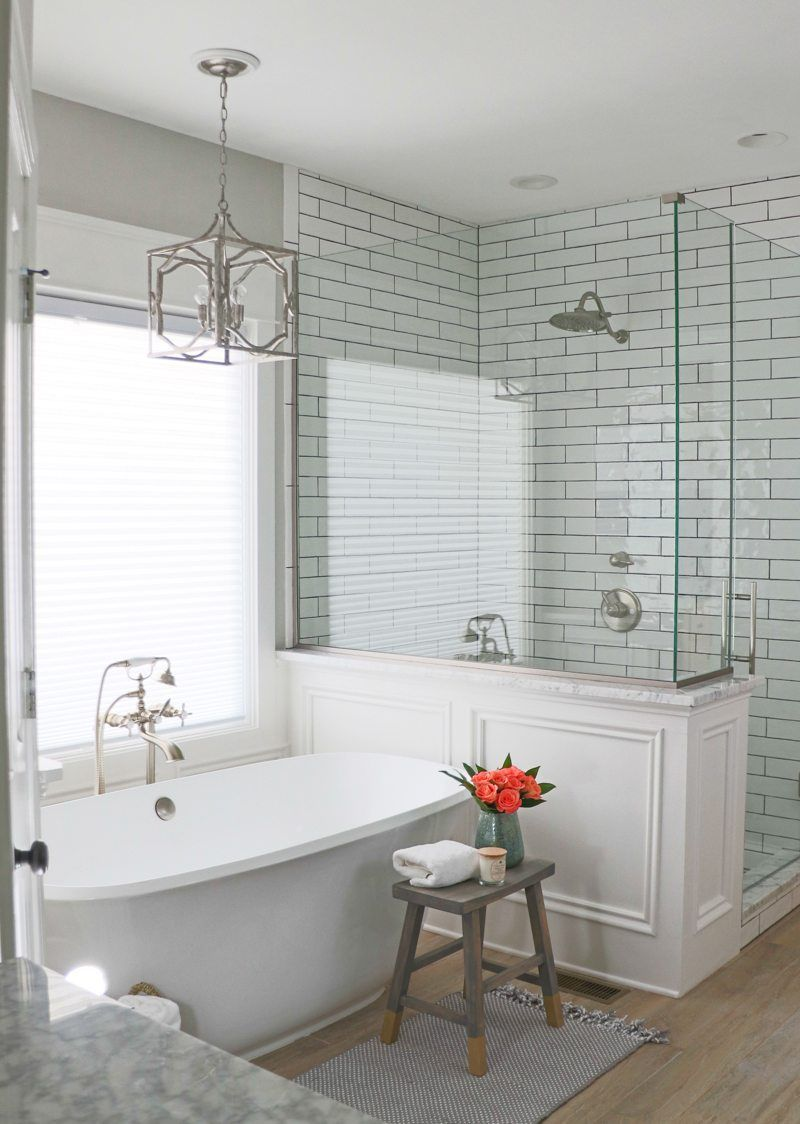 Today I\'m doing my bathroom remodel reveal, and if you\'re thinking ...