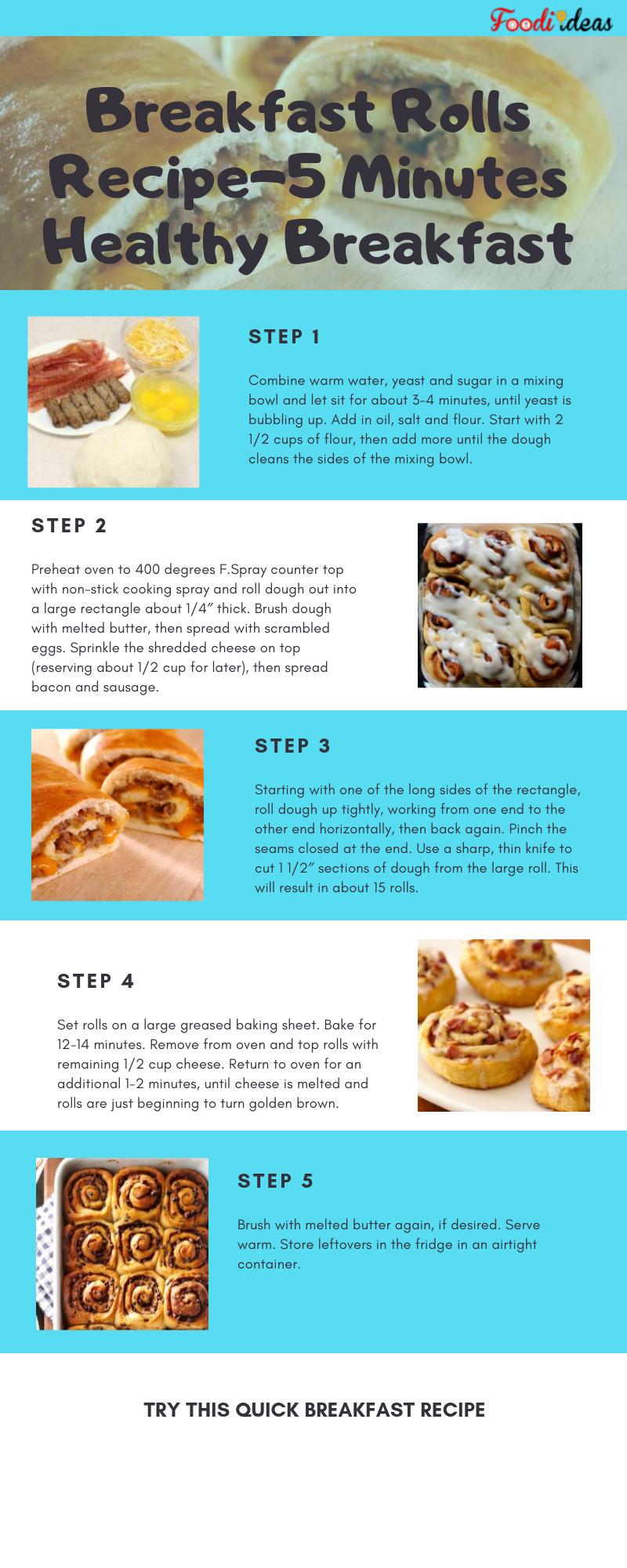 Breakfast Rolls Recipe 5 Minutes Healthy Breakfast Healthy Breakfast Breakfast Rolls Breakfast Recipes Easy