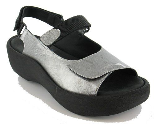 WOLKY SHOES JEWEL : silver leather