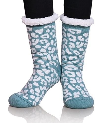 Miubear Womens Thermal Slipper Socks Sherpa Lined Nonskid Fuzzy Cozy Winter Sock