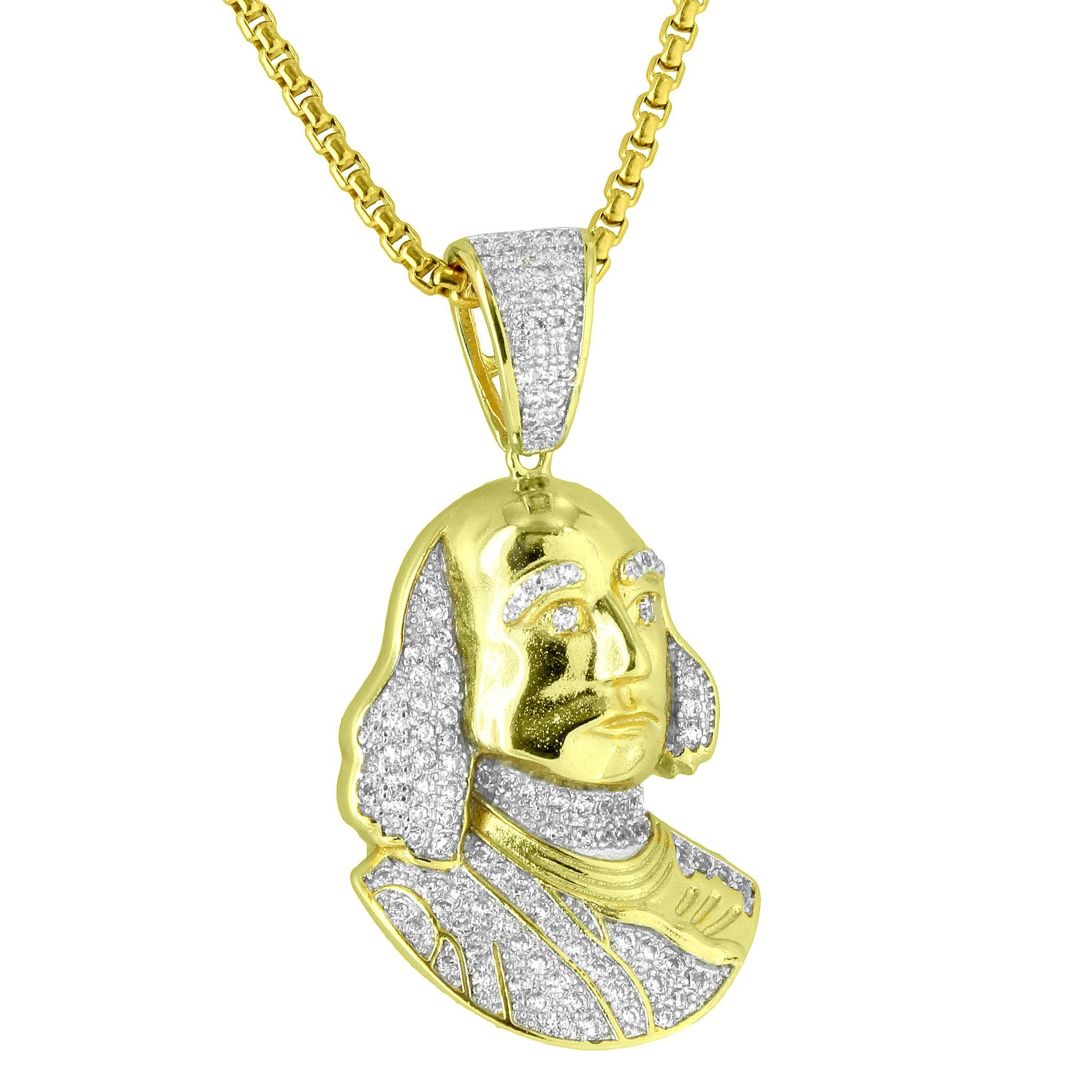 gold cuban pendant chain lab basketball w net pin diamond miami micro pt pave