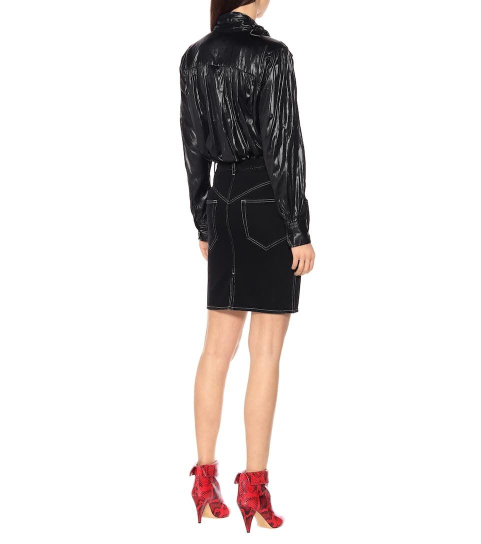b74276a4b Lorine high-rise denim skirt black #rise, #high, #Lorine | Unique ...