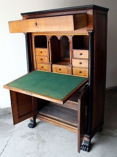 German Biedermeier Secretary Desk 1280 Alpine Furniture