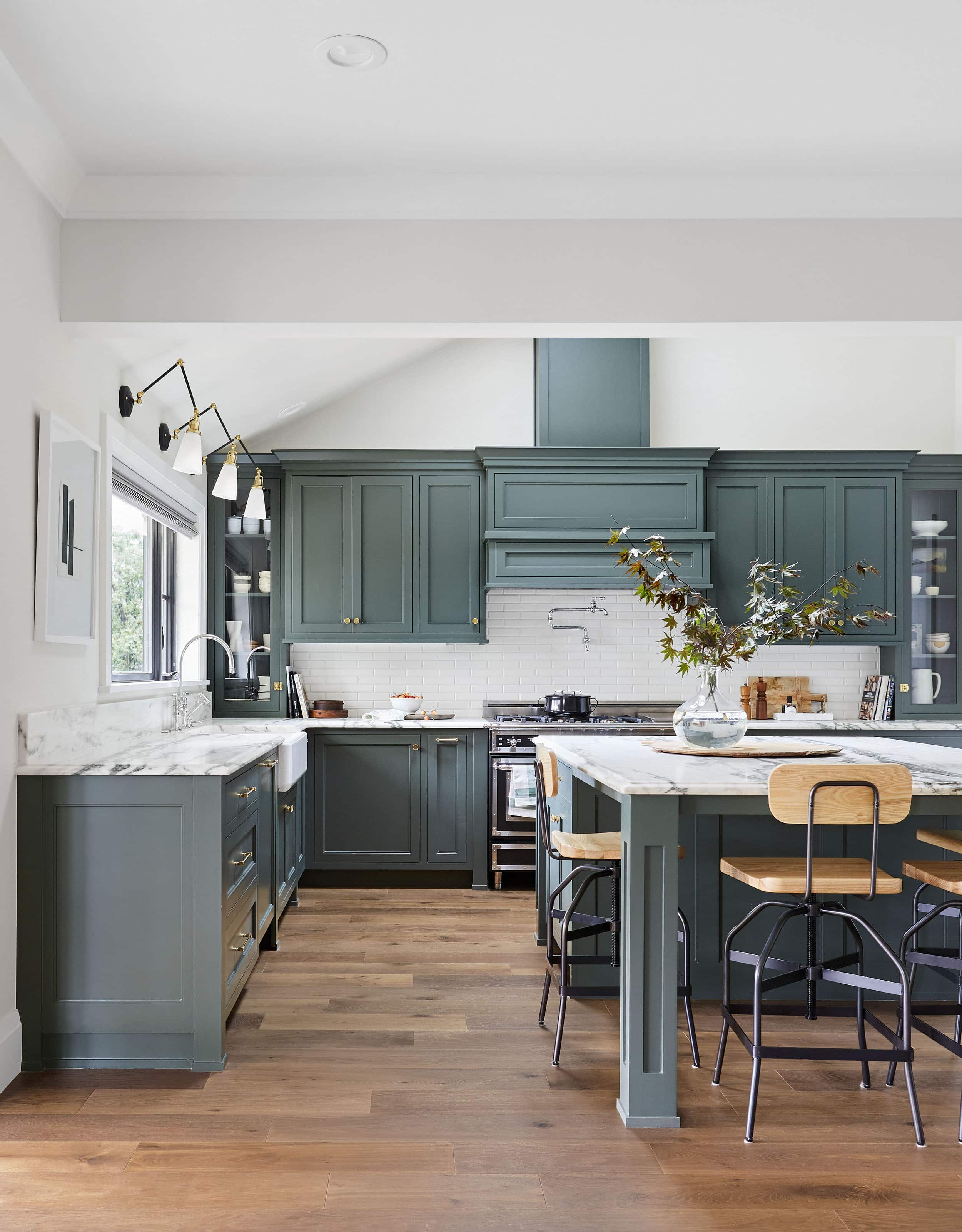 All The What S Why S How Much S Of The Portland Kitchen Big Reveal Emily Henderson Kitchen Color Trends Kitchen Remodeling Projects Green Kitchen Cabinets