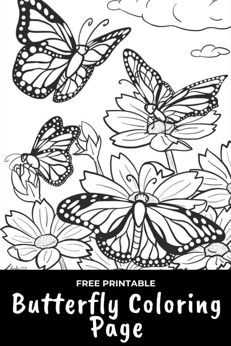 Free Printable Butterfly Coloring Page Butterfly Coloring Page Coloring Pages Butterfly Printable [ 1102 x 735 Pixel ]