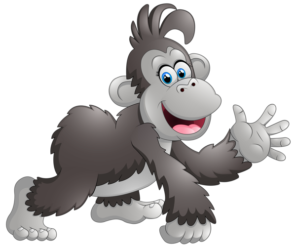 Happy Monkey Cartoon PNG Clipart Image