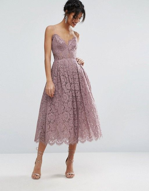Asos Lace Cami Midi Prom Dress At Asos Dreamiest Dress Of All