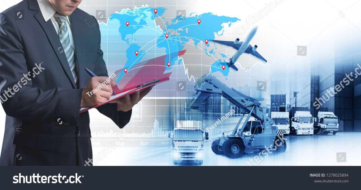 World Map With Logistic Network Distribution Logistic And Transport Concept In Front Industrial Container Cargo Freight S In 2020 Photo Editing Stock Photos World Map